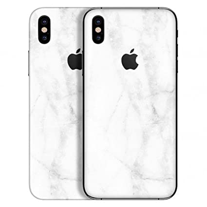 meet 52858 363f0 GADGETS WRAP Apple iPhone X/iPhone Xs Exclusive White Marble Skin D10A7