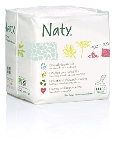 Naty Womencare - Damenbinden Normal, 4er Pack (4 x 15 Stück)