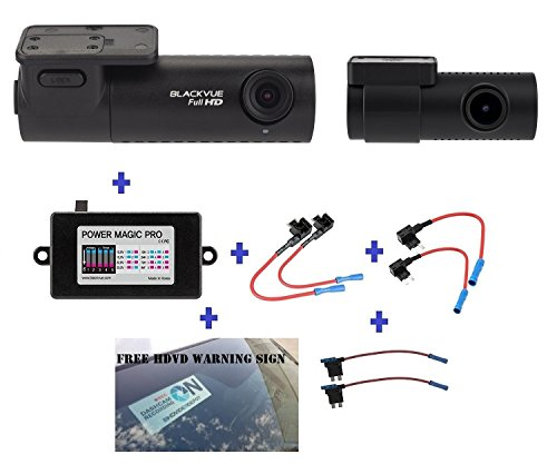 Blackvue DR590-2CH 128GB, Car Black Box/Car DVR Recorder, Full HD 1080p Front and Rear, 30FPS, G Sensor, 128GB SD Card + Power Magic Pro + Fuse taps + HDVD Warning Sign Included