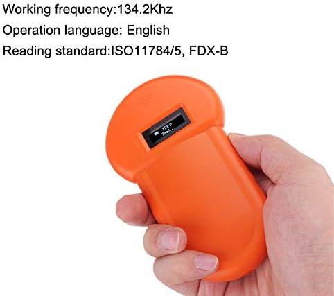 ROKOO Animal ID Reader 134.2Khz Animal ID Reader Pantalla LCD RFID Pet Pet Microchip Reconocimiento Ear Tag Scanner
