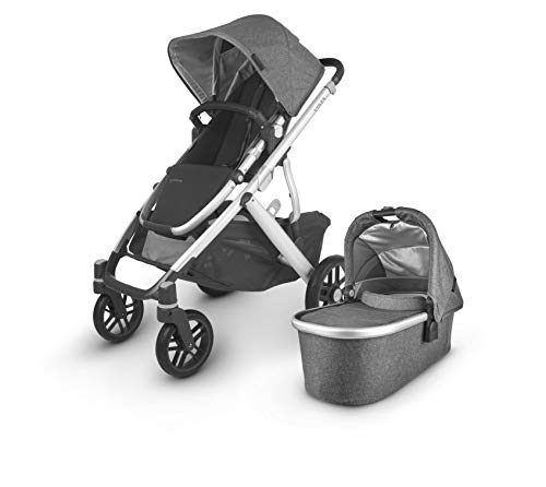 Vista V2 Stroller – Jordan (Charcoal/Silver/Black Leather)