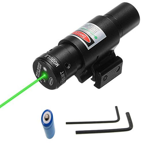 - Suphunter Tactical Green Laser Beam Dot Sight Scope Rifles Pistols Handguns fits Standard 20mm Picatinny/11mm Dovetail