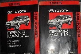 1995 Toyota 4Runner 4 RUNNER Service Shop Workshop Repair Manual Set FACTORY