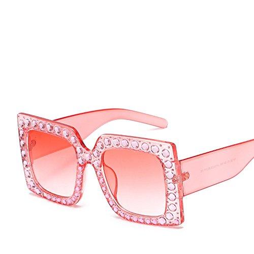 TIANLIANG04 De Gafas pink Violeta Parte Sol Rosa Lujo Grande Negro Mujer Sol La Uv400 Grande De Piazza Gafas Hembra De De Strass Frq5OwCF