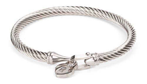 Heart Lock Charm Bangle Bracelet with 6. - David Yurman Sterling Silver Cable Bracelet Shopping Results