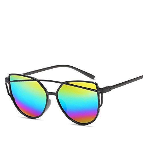 Hipster Estados Grano Personalidad De Metal Europa Caja Madera Y De Gafas ASD G Sol G HJJ Moda Gafas Film Nueva Unidos Trend Sol Color Unisex RXc7q