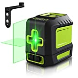 Line Laser Level Tool - 100ft Green Self Leveling Laser Line Level with Horizontal and Vertical Line Laser leveler for Indoor Outdoor Picture Hanging Construction Wall Writing Tile Installation