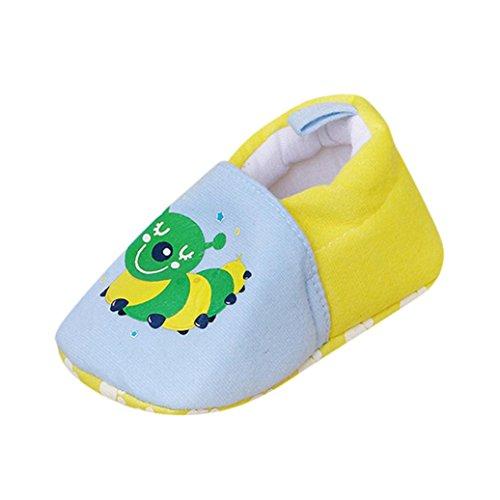 Jamicy® Neugeborenen Baby Baumwolle Cartoon Mädchen Jungen Weiche Prewalker Casual Wohnungen Schuhe Blau