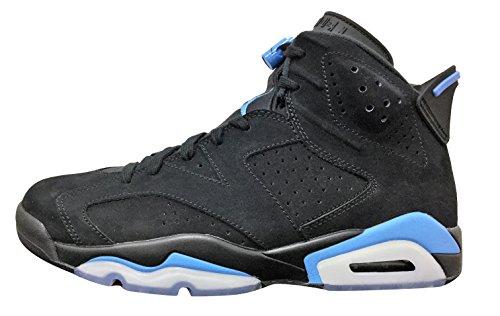 Jordan Men's Air 6 Retro, Black/University Blue