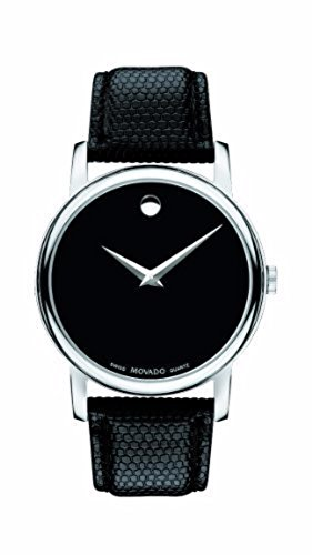 Men's Movado Silver Museum Classic Leather 2100002