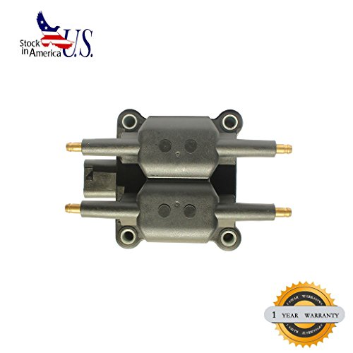 Dodge Neon Ignition Coil (Deal 1pc Brand New Ignition Coil (4 coil packs in the unit) Fit With Oval Pin Connector: Chrysler/Dodge/Eagle/Mitsubishi/Plymouth Multiple Vehicles 2.0L/2.4L L4)