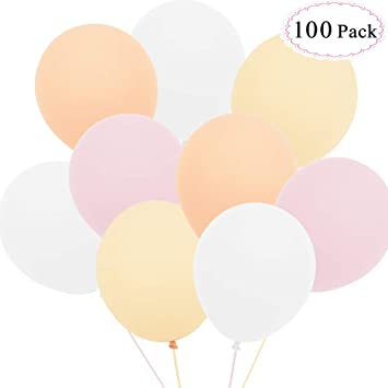 Anokay Luftballons Rosa Weiss Champagne Aprikose Hochzeitsdeko