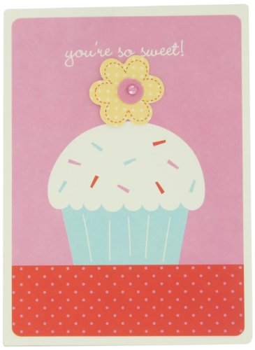 Prima 200466 Kids Card Set, Cupcake, 3-3/4 by 5-Inch