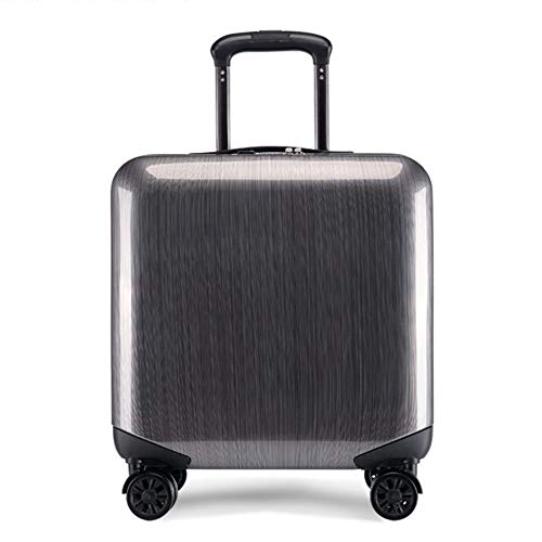 Z&YY Luggage Box Male Mini Business Password Hand Luggage Box Trolley case Aircraft Suitcase Universal Wheel Boarding Student Casual Hand Box Towing Box Tide Silver Gray (18 inches)