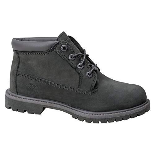 Timberland Women's Nellie Waterproof Boot, Dark Grey Nubuck,