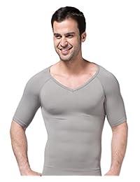 Niyatree Men's Slimming Compression Body Shaper V-Neck Short Sleeve T-shirt