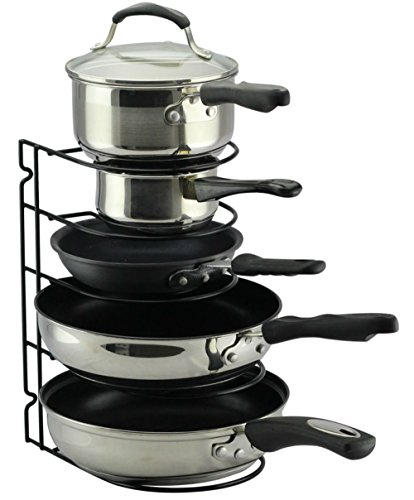 Lid Maid Pot Pan Lid Organizer: Pan Pot Lid Organizer Rack Cabinet Shelf Fry Holder