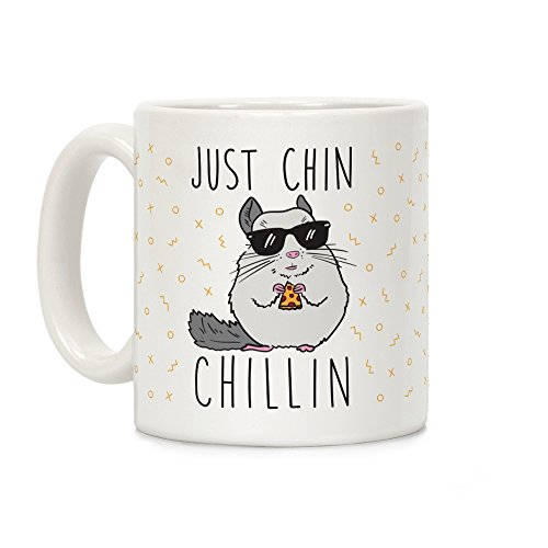 LookHUMAN Just Chin-Chillin White 11 Ounce Ceramic Coffee Mug ()