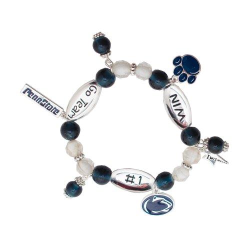 Penn State Nittany Lions #1 Win Sport Wishing Charm Bracelet