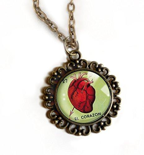 Loteria El Corazon Large Pendant Necklace