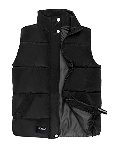 Quilted Down Vest - Misakia Women's Lightweight Quilted Down Vest Jacket with Pocket (Black L)