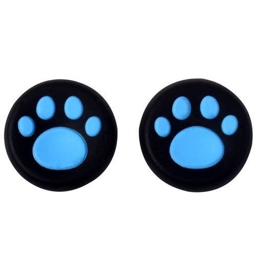 Analog Thumb Stick Grip Covers Thumbstick Joystick Cap Cover for PS4 PS3 PS2 PS4 Pro Slim Xbox One Xbox 360 (Blue)