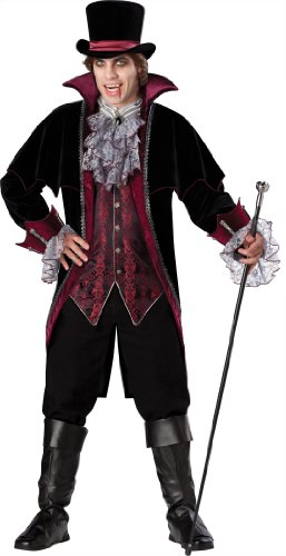 Men's Vampire Of Versailles Costume, Black/Burgundy