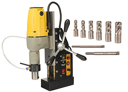 Steel Dragon Tools MD40 Magnetic Drill Press with 7pc 1'' Small HSS Cutter Kit by Steel Dragon Tools