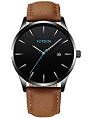 FOVICN Herren Quarzuhr Wasserdichte Analog Armbanduhr für Damen und Herren Mode Klassisch Uhr