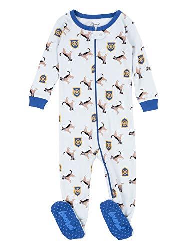 Leveret Kids Pajamas Baby Boys Girls Footed Pajamas Sleeper 100% Cotton (Police Dog, Size 6-12 Months)]()