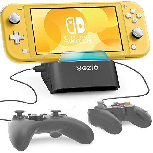 Switch Lite/Nintendo Switch Dock - Portable Charging Dock Station for Switch Lite/Switch - Support Wired Controller, Connect Up To 4 Devices(4 USB Ports )