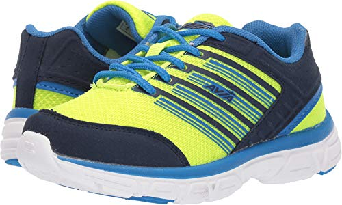 Avia Boy's Avi-Damon Shoe, Highlighter Lime/True Navy/Electric Blue, 6 Medium US Big Kid -
