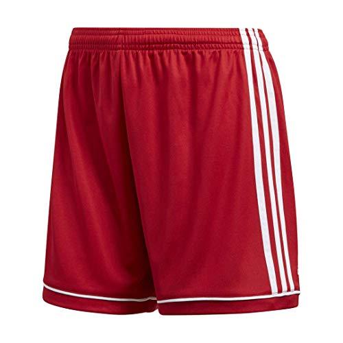 (Adidas Women's Soccer Squadra 17 Shorts - Medium - Power Red/White)