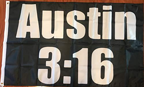 Stone Cold Steve Austin 3:16 3 X 5' Flag Banner WWF WWE -