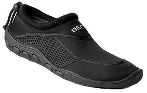 BECO Surfschuhe Bade Schuhe Herren Sneaker Aqua Beachschuhe schwarz Gr 43