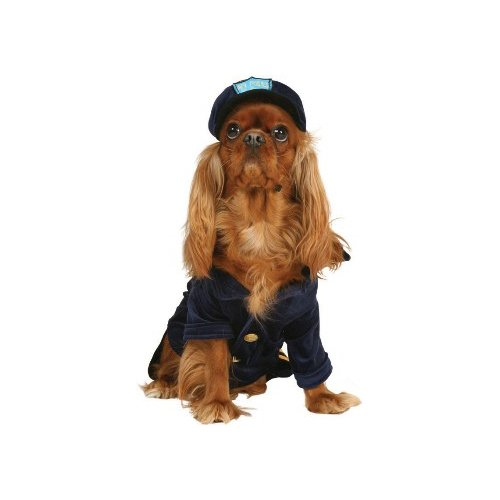 Cop Dog Costume (Officer K-9 Dog Pet Costume Size Small by Cinema Secrets)