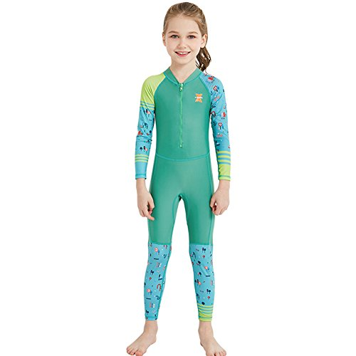Fashionwu Children Unisex Colorful Jumpsuit Swimsuit Conjoint Quick Cute Dry Suit Set (Drysuit Tech)