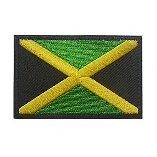 ShowPlus Jamaica Flag Patch Military Embroidered Tactical Patches Morale Shoulder Applique ()
