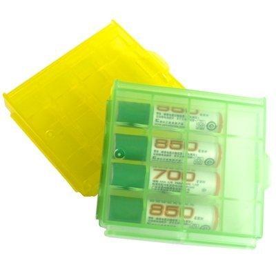 Demarkt 2 Cajas Estuches de Plástico para Pilas y Baterías AA AAA Portapila Recargabl