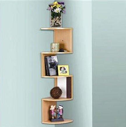 amazon com stackable 5 tier oak zig zag corner wall shelves rh amazon com zig zag corner shelf 12 inch zig zag corner shelf uk