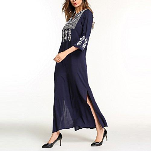 Vintage para Casual Estilos Zhhlinyuan Islámica en Dubai Mujer Disponible Jalabiya Maxi Vestidos Vestido Largo Abaya Marroquí 8 qFfapWft