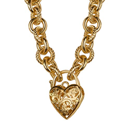 Stauer Women's Italian Amore Heart Pendant Necklace (17 Inches)