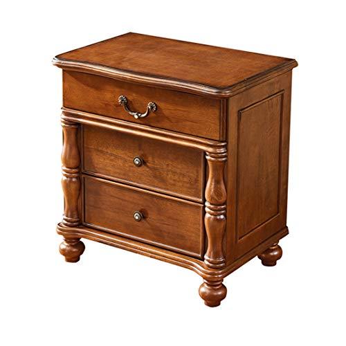 GHH Bedside Table American Oak Country Solid Wood Bedroom Solid Wood Bedside Cabinet Storage Locker Bedside Table