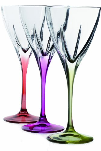 Crystal Cordial Glass - Fusion Crystal Multicolor Cordial Liquor Set, 6-Piece