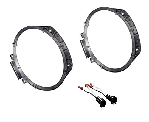 Premium 6x9 Front Door Speaker Install Adapter Mount Bracket Plates Speaker Wire Harness for 2016 2017 2018 Chevrolet Camaro