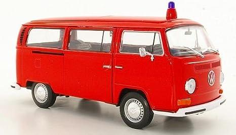 Vw T2 Bus Feuerwehr 1972 Modellauto Fertigmodell Welly 1 24 Spielzeug