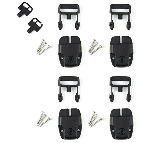 (Sure Lock Hot Tub Spa Cover Replacement Latches w/ Keys & Screws - Set of 4)