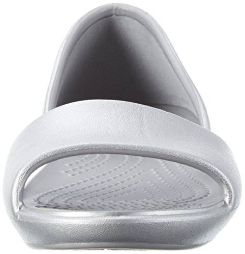 silver Sandal Lina Silver Women's Dorsay Flat Crocs wxgqpBnB