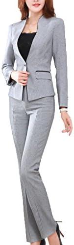 MFrannie Women's Elegant Layer Business OL Coat and Pants Slimming Suit