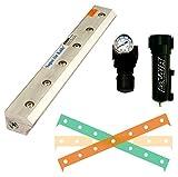 EXAIR 110272 Super Air Knife Kit, 2.9 SCFM per Inch Maximum Flow Rate, 80 psig